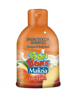 Sampon dus gel Malizia Bonbons lapte si piersici 500 ml