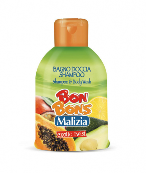 Sampon dus gel Malizia Bonbons Exotic twist 500 ml