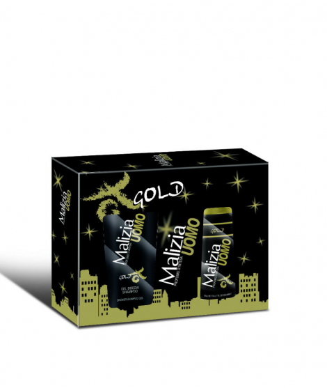 Bipack-Malizia Uomo Gold deo 150ml si dus gel 250 ml